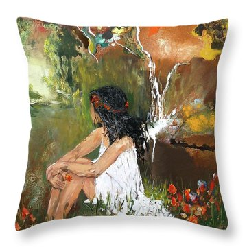 Open-minded Throw Pillow