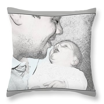 Open Mouth Kiss Throw Pillow
