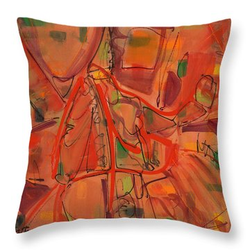 Open Paths One Throw Pillow by Lynne Taetzsch