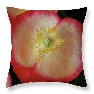 Open Poppy Throw Pillow
