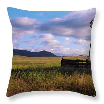 Open Range Pano View Throw Pillow
