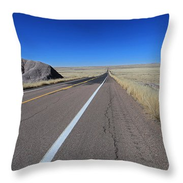 Open Road Throw Pillow by Gary Kaylor