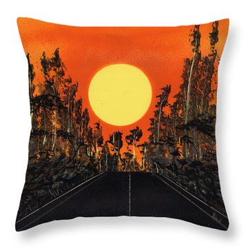Open Road Throw Pillow