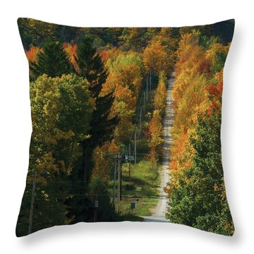 Open Road Rider Throw Pillow