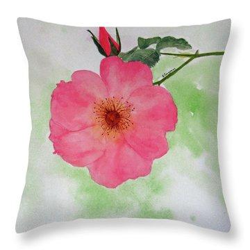 Open Rose Throw Pillow