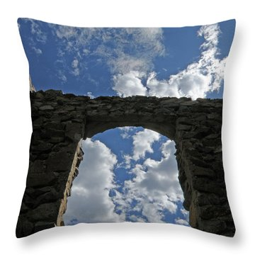 Open To The Sky Throw Pillow
