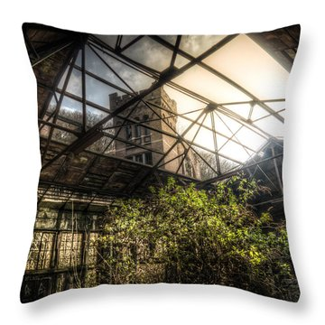Open Top Throw Pillow by Nathan Wright