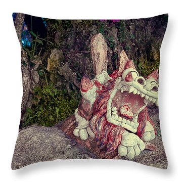 Open Up And Say Ahhh Throw Pillow