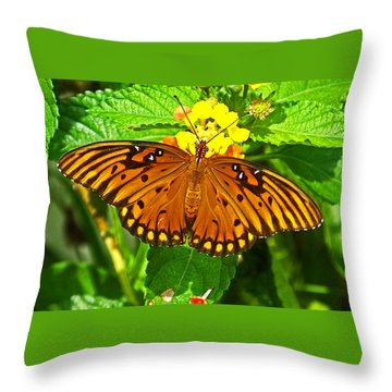 Open Wings Throw Pillow by Judy Wanamaker