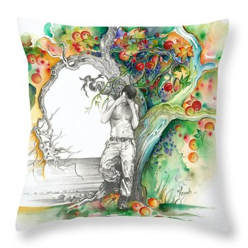 Open Your Eyes -the World Is Changing Throw Pillow