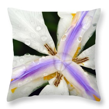 Open Your Petals Throw Pillow