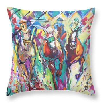 Opening Day In Del Mar Throw Pillow
