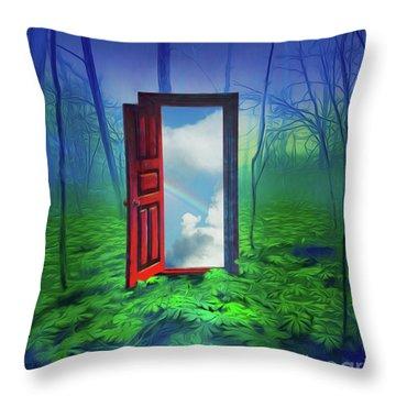 Opening Doors Throw Pillow