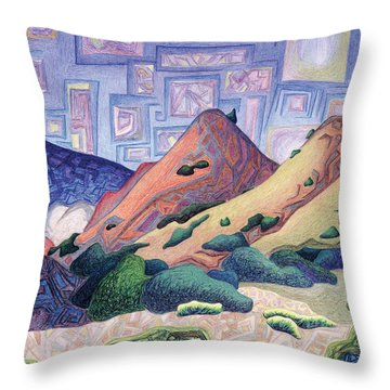 Opening The Dream Window Throw Pillow by Dale Beckman