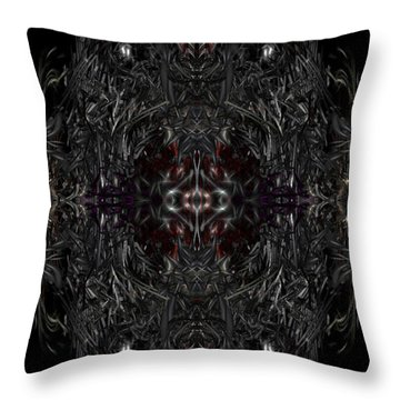 Throw Pillow featuring the digital art Opening The Seal by Reed Novotny