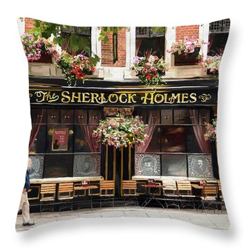 Throw Pillow featuring the painting Opening Time by James Shepherd
