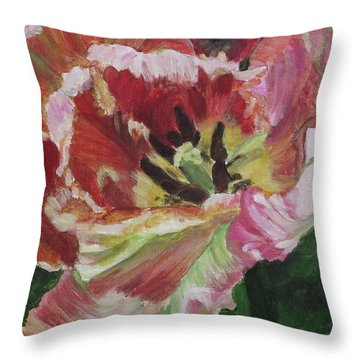 Opening Up Throw Pillow by Kim Selig