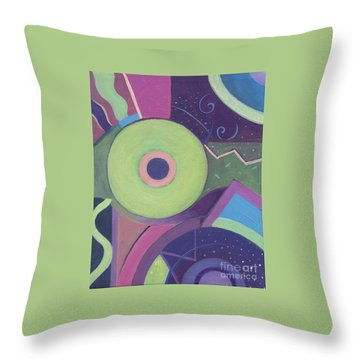 Openly Green Throw Pillow