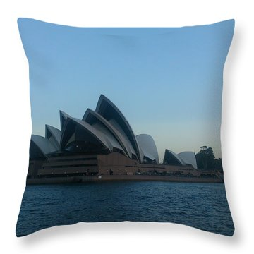 Opera House View Throw Pillow