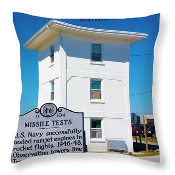 Operation Bumblebee Control Tower Throw Pillow by Betsy Knapp
