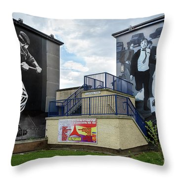 Operation Motorman Mural In Derry Throw Pillow by RicardMN Photography