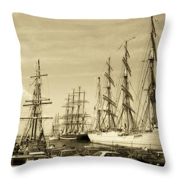 Operation Sail 1992 Brooklyn Throw Pillow