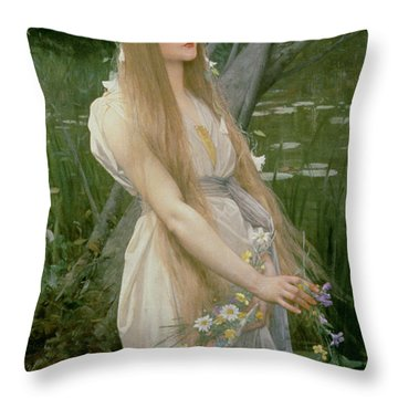 Ophelia Throw Pillow by Jules Joseph Lefebvre