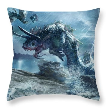Ophiotaur Attack Throw Pillow