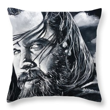 Opie Throw Pillow by Tom Carlton