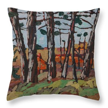 Opinicon November Forest Throw Pillow