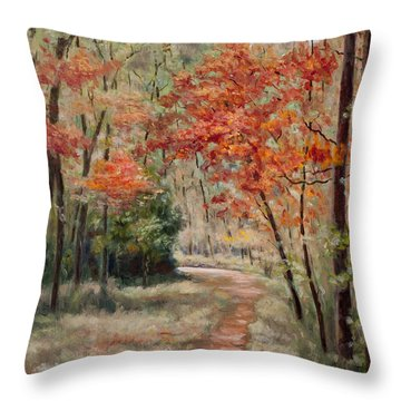 Opossum Trail Throw Pillow
