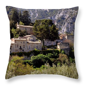 Throw Pillow featuring the photograph Oppede Le Vieux by Olivier Le Queinec