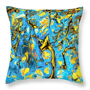 Throw Pillow featuring the painting Opportunities by Anastasiya Malakhova