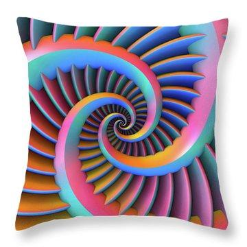 Throw Pillow featuring the digital art Opposing Spirals by Lyle Hatch