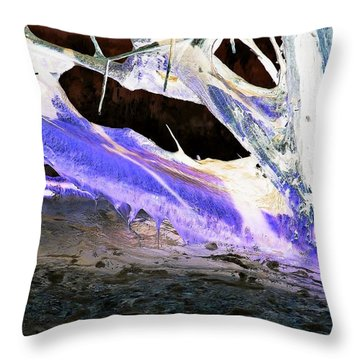 Oppostracts 17 - Dripping In Purple Throw Pillow
