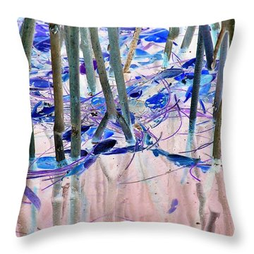 Mangrove Shoreline No. 2 Throw Pillow