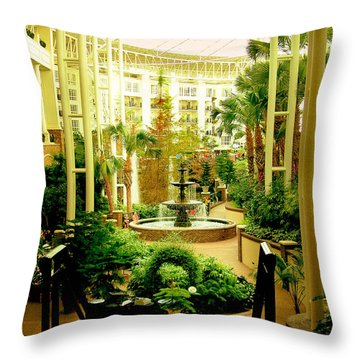 Opryland Hotel Throw Pillow