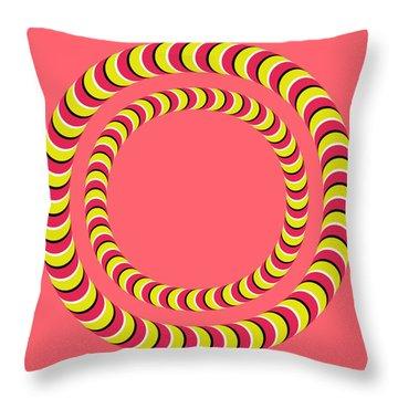Optical Illusion Circle In Circle Throw Pillow