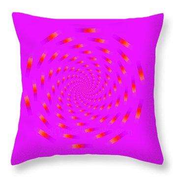 Optical Illusion Spinning Circle Throw Pillow