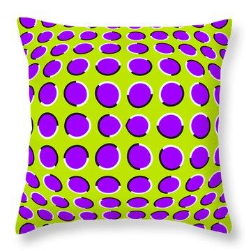 Optical Illusion The Ball Throw Pillow