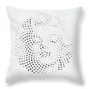 Throw Pillow featuring the digital art Optical Illusions - Iconical People 1 by Klara Acel