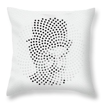 Throw Pillow featuring the digital art Optical Illusions - Iconical People 2 by Klara Acel