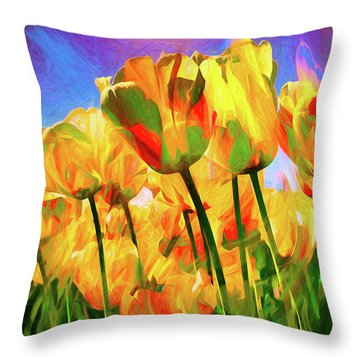 Throw Pillow featuring the digital art Optimism by Pennie  McCracken