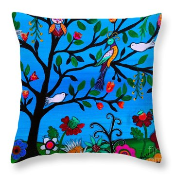 Throw Pillow featuring the painting Optimism by Pristine Cartera Turkus