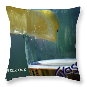 Optimist Quiz Throw Pillow by Lisa Knechtel