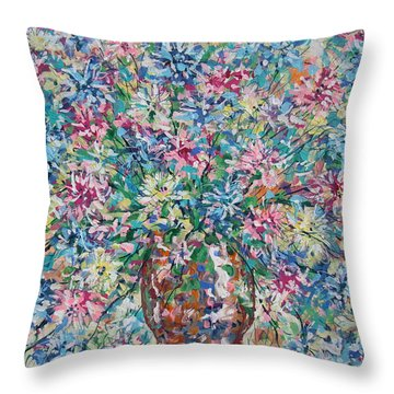 Opulent Bouquet. Throw Pillow