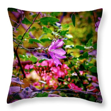 Opulent Lily Throw Pillow