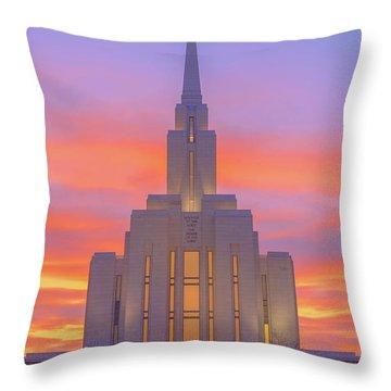 Oquirrh Mountain Temple IIi Throw Pillow