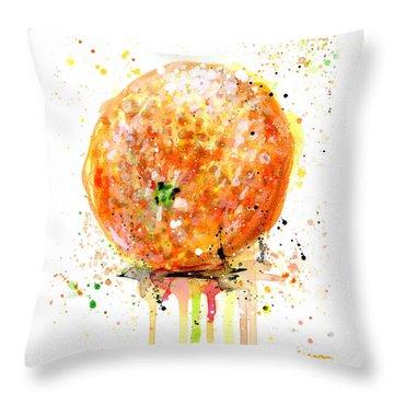 Orange 1 Throw Pillow