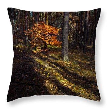 Orange Alien Throw Pillow